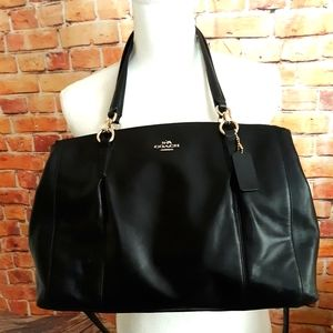 Coach leather shoulder crossbody bag